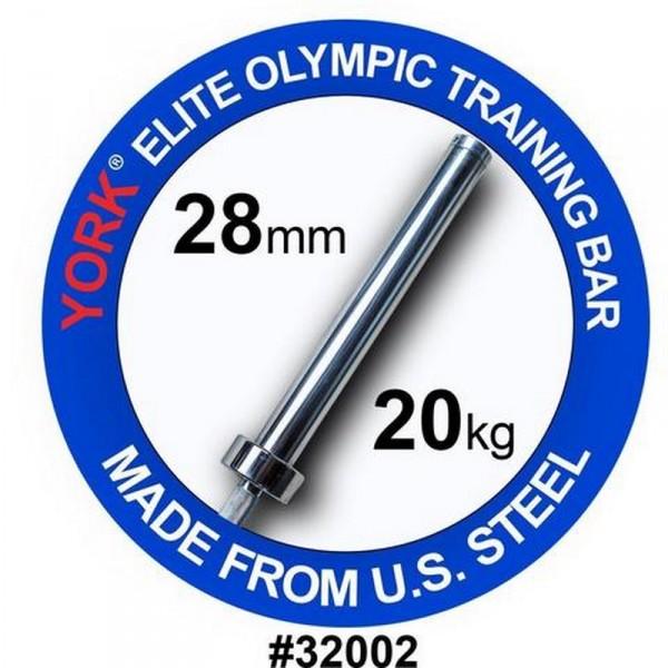 YORK BARRE OLYMPIQUE MEN'S ELITE TRAINING BAR