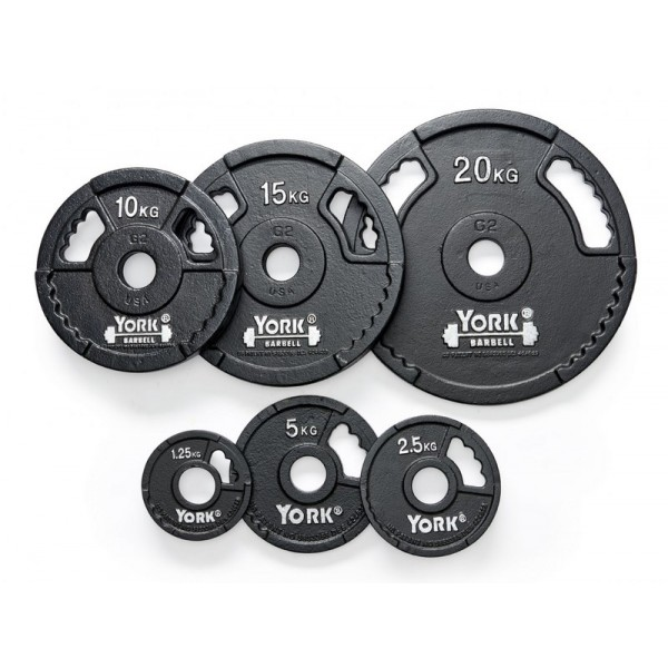 YORK DISQUES OLYMPIQUES G2 CAST IRON OLYMPIC PLATE
