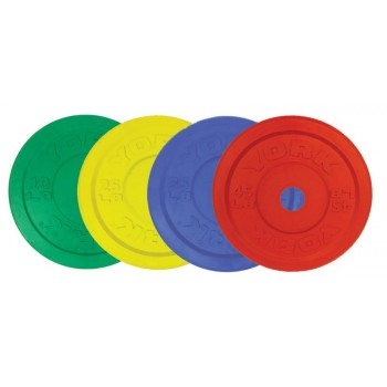 YORK DISQUES OLYMPIQUES COLOURED OLYMPIC BUMPER PLATE
