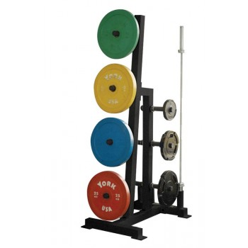 YORK RACK DISQUES ET BARRES OLYMPIQUES PLATE TREE
