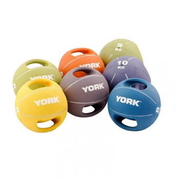 YORK MEDECINE BALL PRO AVEC POIGNEES DE 4 A 10KG
