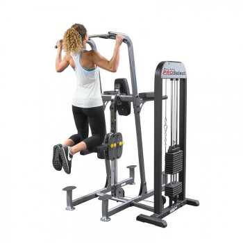BODY-SOLID PRO SELECT LAT & CHIN DIP MACHINE FCD-STK